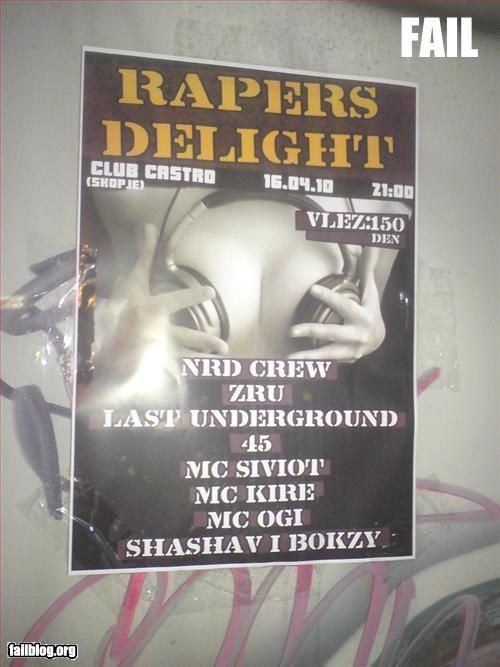 failboat poster rapper spelling error typo - 3388222208