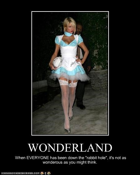 alice in wonderland,costume,famous for no reason,paris hilton,sluts
