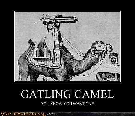 camel,desires,gatling guns,guns,Pure Awesome