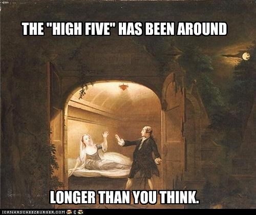 Benjamin Wilson boudoir courtship David Garrick gentleman high five lady painting Romeo and Juiet - 3391273216