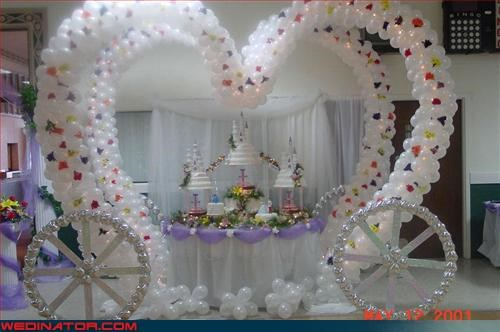 Balloons bat mitzvah Crazy Brides over the top surprise tacky Wedding Themes whoa wtf