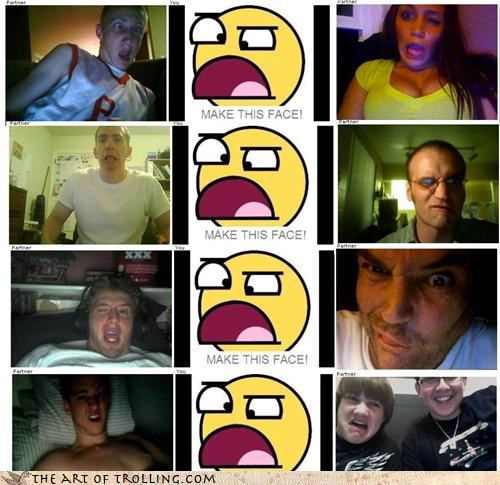 Chat Roulette,funny faces