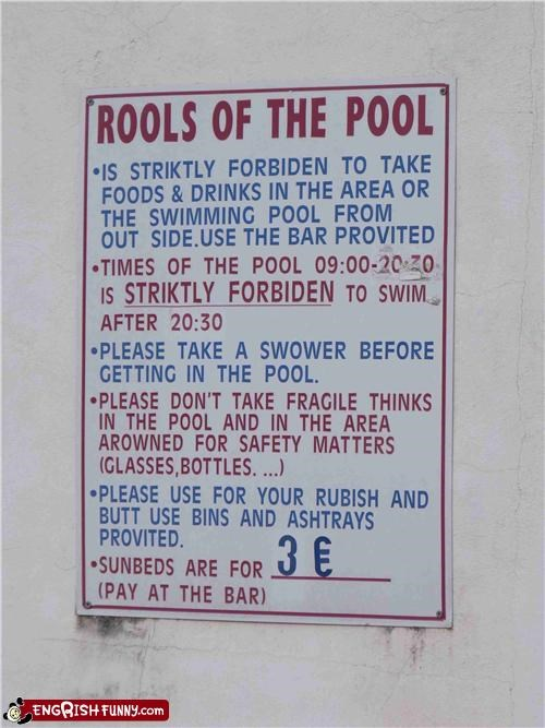forbiden,pool,sign,thinks,Unknown,warning