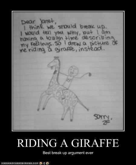 RIDING A GIRAFFE Best break up argument ever