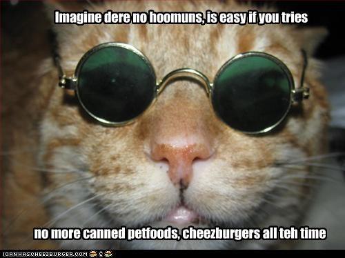 cheezburger costume glasses john lennon look a like - 3395046400