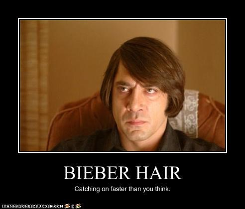 actor,bad hair,javier bardem,justin bieber,movies,No Country For Old Men