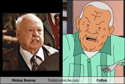 actor,cartoons,cotton,King of the hill,mickey rooney,old