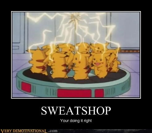 Pokémon,sweatshop,pikachu