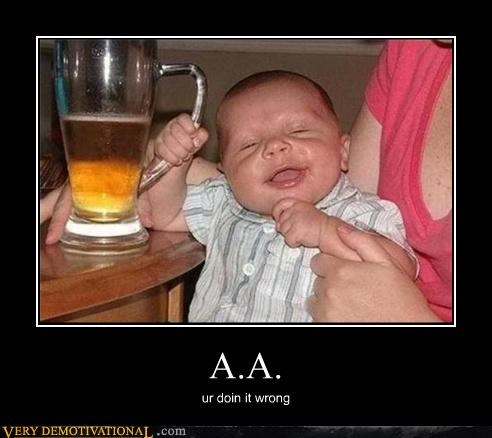 AA booze kids doing it wrong