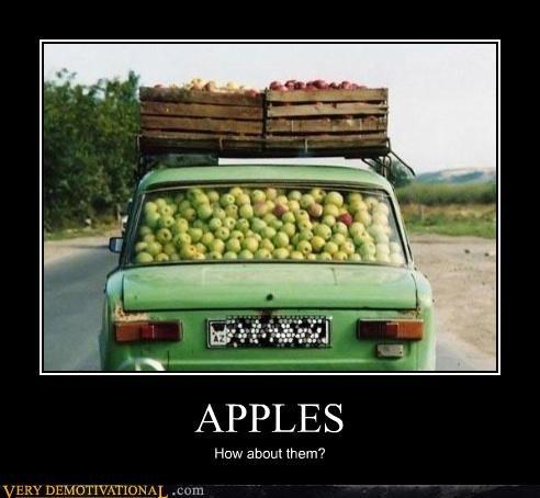 car food fruit hilarious puns these apples - 3400544768