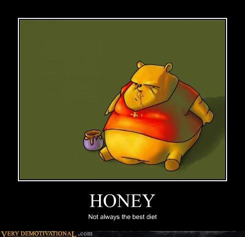 cartoons diet honey obesity Sad winnie the pooh - 3400653312