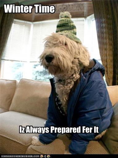 Winter Time Iz Always Prepared Fer It