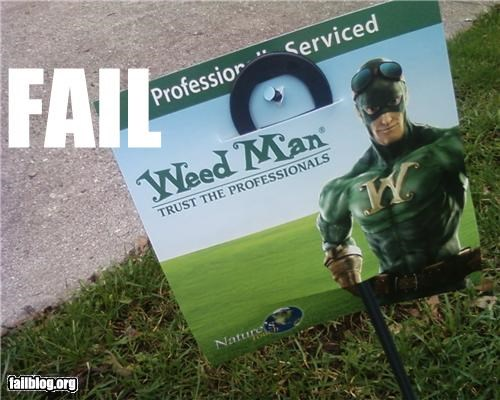 failboat lawn mascot superhero weed - 3402041088