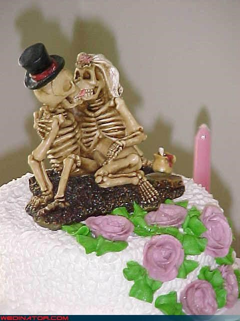 cake topper Day Of The Dead Dreamcake eww sexy skeletons surprise symbolic traditional-sort-of Wedding Themes wtf - 3402255616