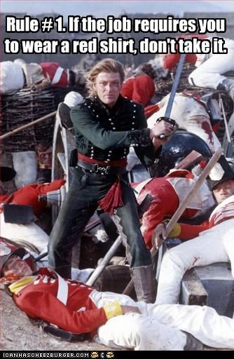 British movies red shirts sci fi sean bean Star Trek swords TV - 3403341824