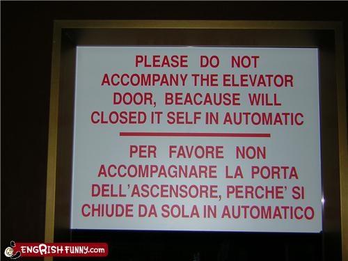 elevator warning - 3406629632