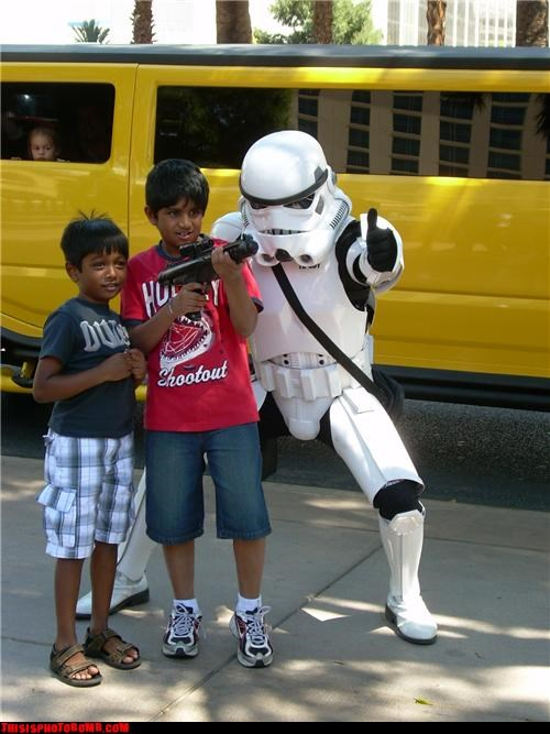 awesome,childhood,envy,kids,limo,stormtrooper