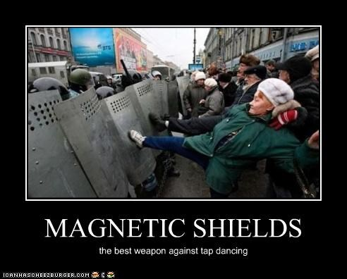 MAGNETIC SHIELDS the best weapon against tap dancing