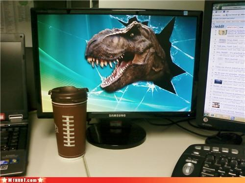 art,background,boredom,coffee,creativity in the workplace,cubicle boredom,cubicle prank,cubicle rage,desktop,dinosaur,ergonomics,motivation,photoshop,rage,Terrifying,t rex,wallpaper,wiseass