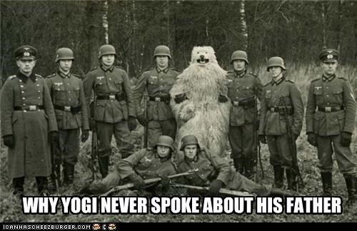 bear costume makes no sense nazi photograph WWII - 3409346304