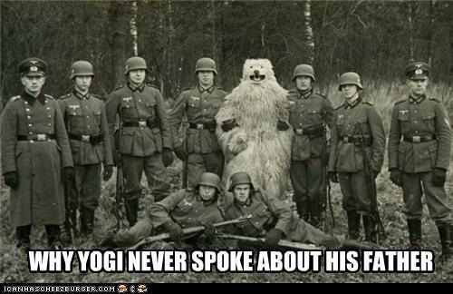 bear costume nazi photograph WWII - 3409346304