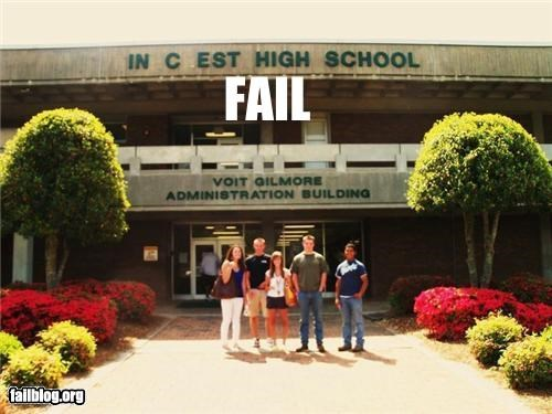 failboat,g rated,high school,keeping it in the family,missing letters
