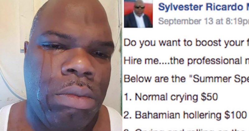 People are reacting to this guy's ridiculous services listing for being a professional mourner at funerals.