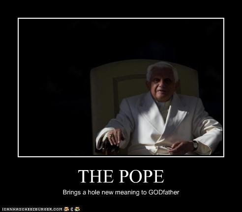THE POPE Brings a hole new meaning to GODfather