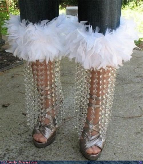 DIY feathers pants tacky - 3416093696
