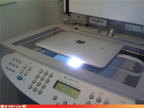 ancient tech saves the day apple awesome basic instructions boredom cant-print clever copy machine creativity in the workplace crippled hardware hardware ingenuity ipad its-not-a-bug-its-a-feature photocopier printing Sad sass shortcomings touch screen wiseass work smarter not harder xerox - 3416188672