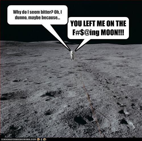 abandoned angry astronaut moon landing - 3416577536