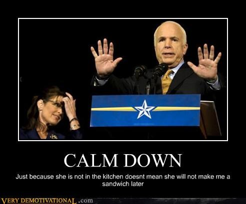 idiots,john mccain,kitchen,politics,sandwiches,Sarah Palin