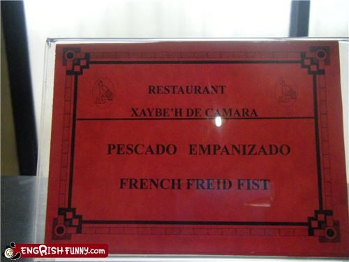 food,martial arts,sign,spanglish,Unknown