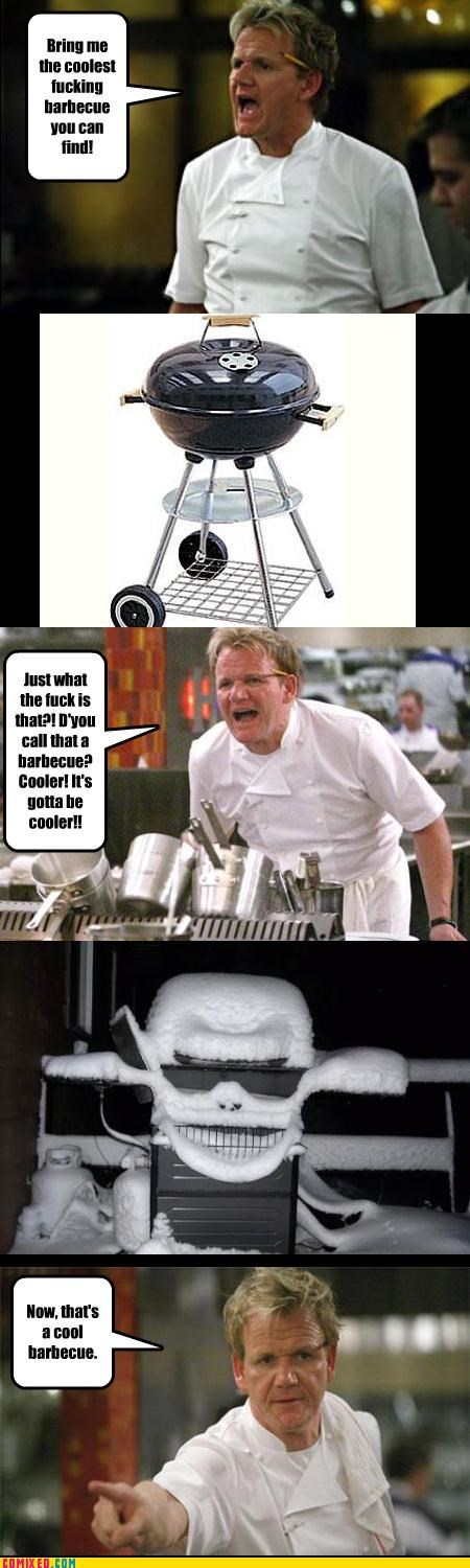 bbq celbutard celebutard food gordon ramsay hells-kitchen the internets TV - 3418454528