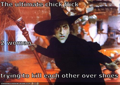 chick flick,margaret hamilton,shoes,the wicked witch,the wizard of oz