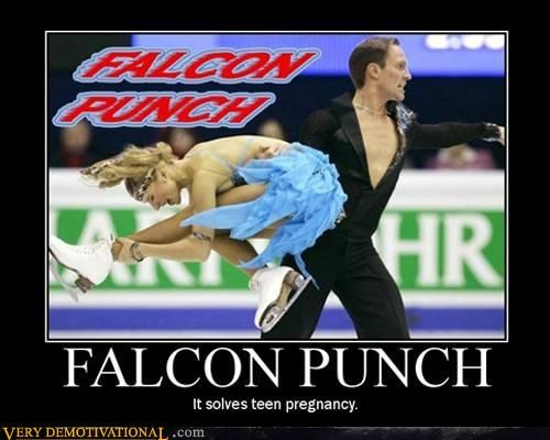 captain falcon demotivational falcon punch hilarious ice skating Sad teenage pregnancy - 3419771648