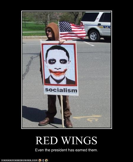 RED WINGS Even the president has earned them.