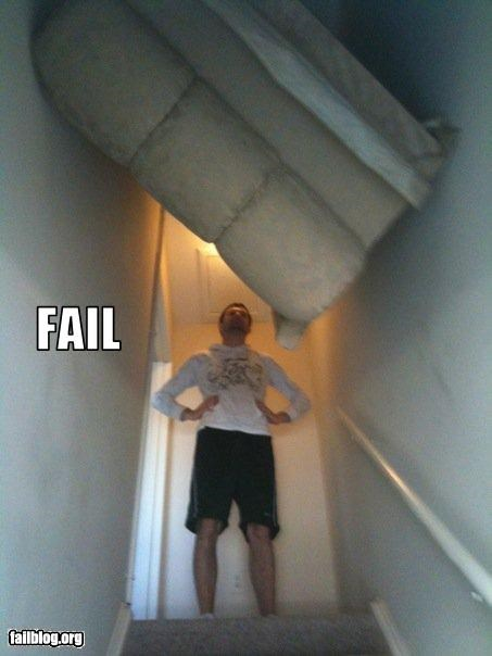 couch failboat hall moving stairway stuck - 3420617984