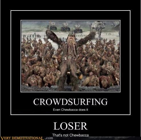crowd surfing look alike Wookies - 3421251584