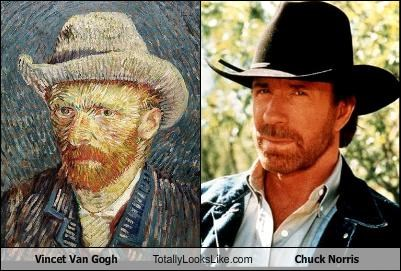 actor,artist,chuck norris,painter,painting,Vincent van Gogh