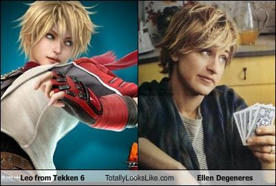 comedian,ellen degeneres,leo,Tekken,tv host,video games