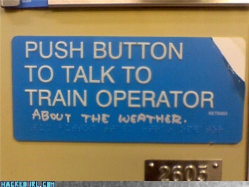 button Subway train weather