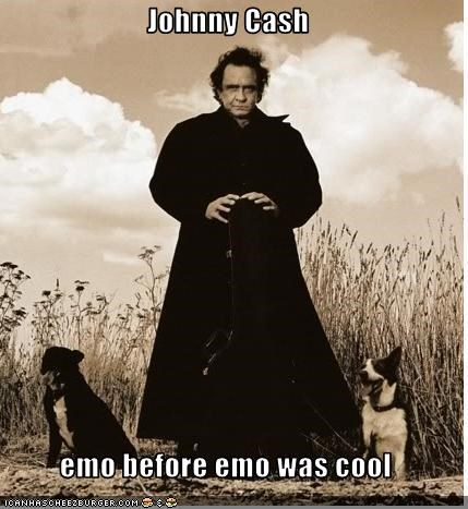 Johnny Cash Emo Before Emo Was Cool Cheezburger Funny Memes Funny Pictures