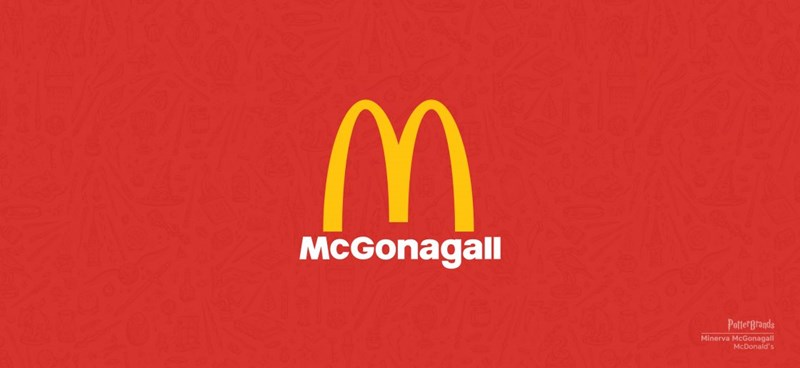 famous brands redesigned by Harry potter's spirut