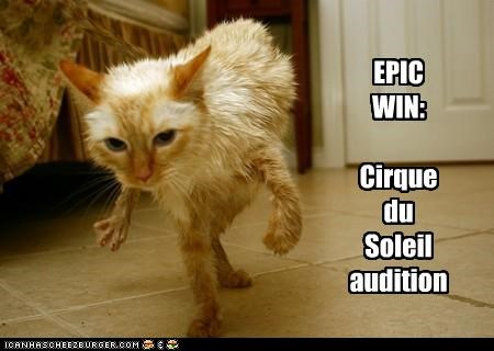 EPIC WIN: Cirque du Soleil audition