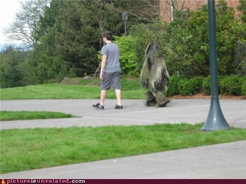 college,costume,ghillie suit,public,wtf
