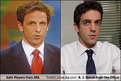 actors,b-j-novak,saturday night live,seth meyers,the office,TV