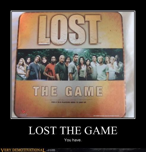 demotivational idiots lost puns the game TV - 3430893056