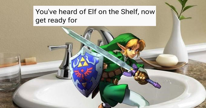 Collection of rhyming Elf on the Shelf memes.