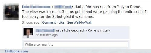 FAIL geography roman holiday stupidity - 3431198464